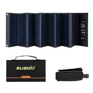 Suaoki-60W-Cargador-Panel-Solar-Placa-Solar-Pegable-y-Doblado-18V-DC-5V-USB-salida-Para-Moviles-Tablets-Dispositivos-Digitales-0